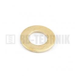 DIN 125A M 10/10,5/20 MS mosadzná plochá podložka