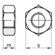 DIN 934 M 14 10.0 ZN vysokopevnostná šesťhranná matica