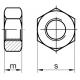 DIN 934 M 10x1,25 8.0 ZN šesťhranná matica s jemný závitom