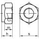 DIN 985 M 10x1,25 8.0 ZN poistná matica