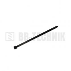Sťahovacia páska 200x3,6 čierna UV stabilná bal. 100ks