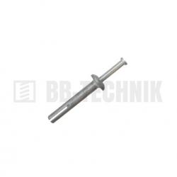 SMM 6x65 kovová natĺkacia hmoždina s hríbovou hlavou
