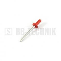 Nit trhací AL/ST 4,0x10 hliník RAL 3000 červený