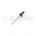 Nit trhací AL/ST 4,0x10 hliník RAL 6005 zelená