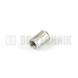 Nitovacia matica M 6 oceľ ZN mikrohlava hladká pre hrúbku materiálu 0,5-3,0mm