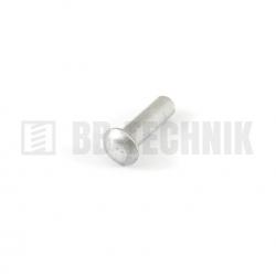 DIN 660 3x6 hliníkové rozklepávacie nity s polguľatou hlavou