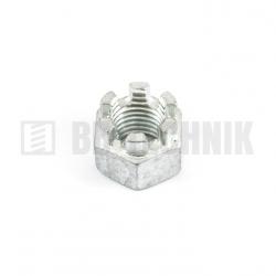 DIN 935 M 12 8.0 ZN korunková matica