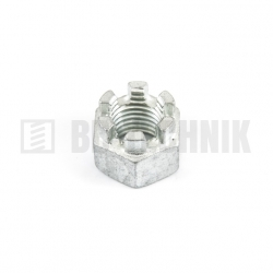 DIN 935 M 20 8.0 ZN korunková matica