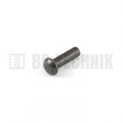 DIN 660 4x20 oceľové rozklepávacie nity s polguľatou hlavou
