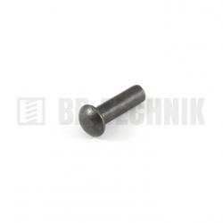 DIN 660 6x25 oceľové rozklepávacie nity s polguľatou hlavou