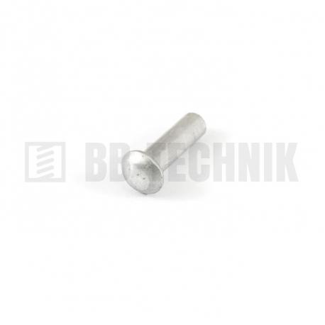 DIN 660 4x8 hliníkové rozklepávacie nity s polguľatou hlavou