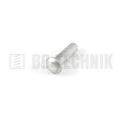 DIN 660 5x16 hliníkové rozklepávacie nity s polguľatou hlavou