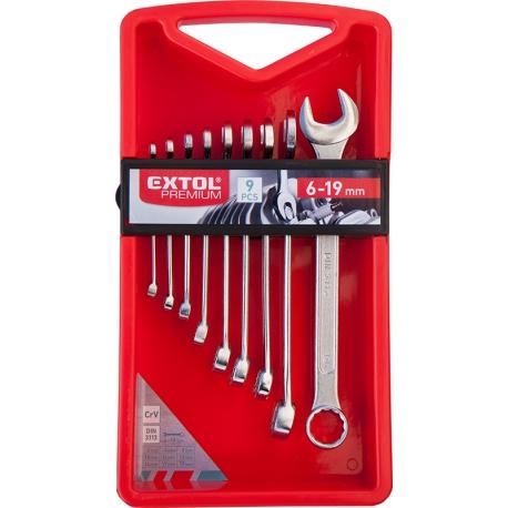 EXTOL Kľúč očko-plochý SADA 18-dielna CrV 6-24mm