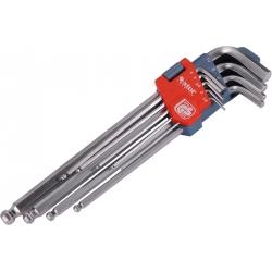 EXTOL Kľúč imbusový SADA 9-dielna 1,5-10mm s gulickou CrV