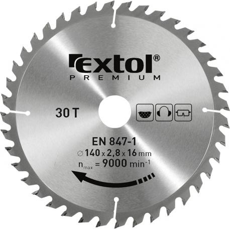 EXTOL Kotúč pílový 115x1,3x22,2mm s SK platkami - 24z