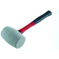 EXTOL Kladivo gumené 65mm biele sklolam. rukoväť