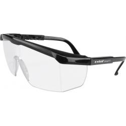 EXTOL Okuliare ochranné číre nastaviteľné