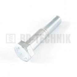 DIN 960 M 14x1,5x100 10.9 pozink skrutka s jemným závitom so 6-hrannou hlavou s čiastočným závitom