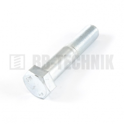 DIN 960 M 16x1,5x80 10.9 ZN skrutka s jemným závitom so 6-hrannou hlavou s čiastočným závitom