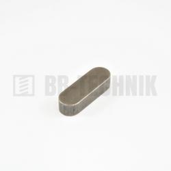 DIN 6885A 12x8x50 oceľové pero