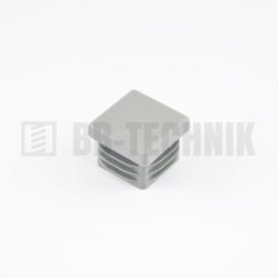 Krytka štvorcová 15x15 mm šedá do profilu