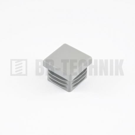 Krytka do profilu štvorcová šedá