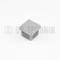 Krytka štvorcová 25x25 mm šedá do profilu