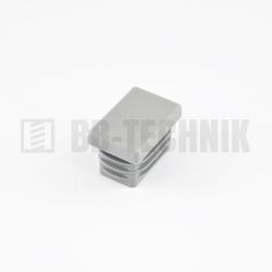 Krytka obdĺžniková 40x20 mm šedá do profilu