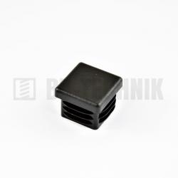 Krytka štvorcová 15x15 mm čierna do profilu