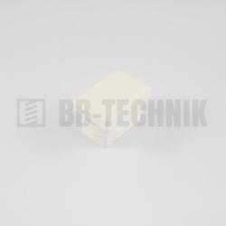 Krytka obdĺžniková 30x20 mm biela do profilu
