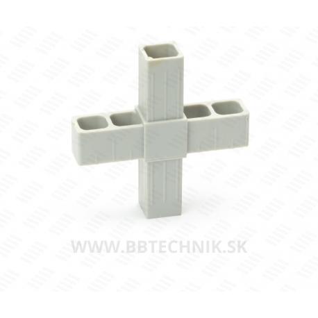 Spojka krížová plastová 25x25 mm
