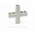 Spojka hliníkových profilov krížová plastová 25x25 mm