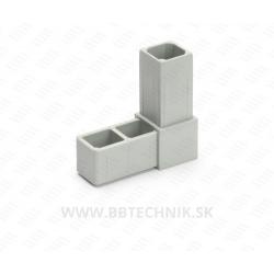 Spojka hliníkových profilov L pravý uhol plastový 25x25 mm