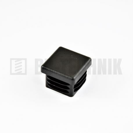 Záslepka štvorcová 30x30 mm čierna do profilu