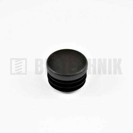 Krytka kruhová 20 mm čierna