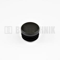 Krytka kruhová 25 mm čierna