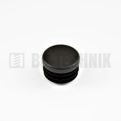 Krytka kruhová 28 mm čierna