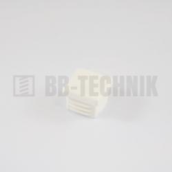 Krytka štvorcová 25x25 mm biela do profilu