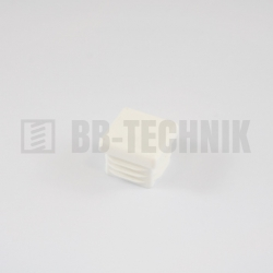Krytka štvorcová 30x30 mm biela do profilu