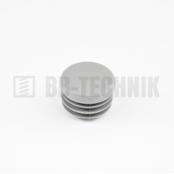 Krytka kruhová 50 mm šedá