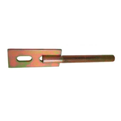 Držiak plotového poľa priamy M12 osadenie 100 mm žltý zinok
