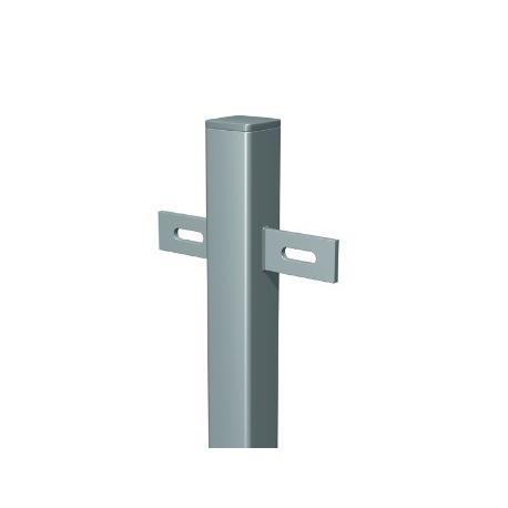 Plotový stĺpik 40x40x1000 s privarenými držiakmi roxor žiarový zinok