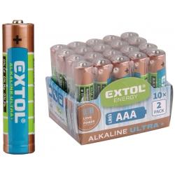Batéria Alkalická typ AAA balenie 20ks 1,5V