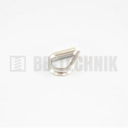 DIN 6899 D 4 lanová očnica nerez A4