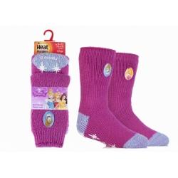 Heat Holders detské termo ponožky protišmykové PRINCESS - ružové