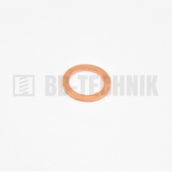 DIN 7603A 8x12,0x1 meď CU tesniaca podložka