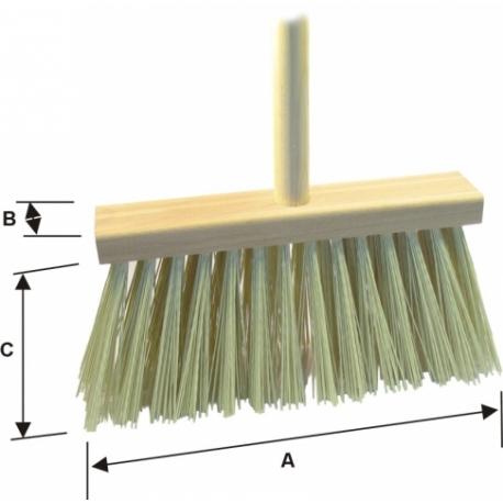 Metla CLEAN C12+ 250x50x115 mm s násadou