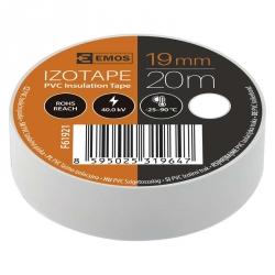 Izolačná páska 19 mm x 20 m biela