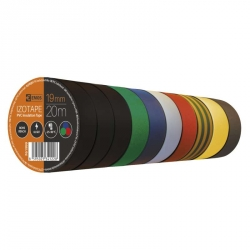 Izolačná páska 19 mm x 20 m sada farebna