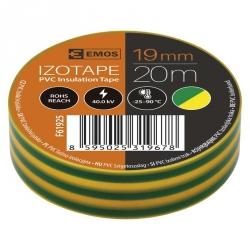 Izolačná páska 19 mm x 20 m zeleno-žltá